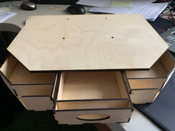 RotaPlate - bottom part with drawers