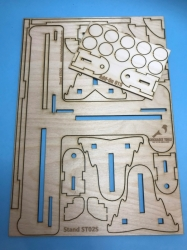 Basic plywood sheet with parts
